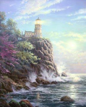Landschaft Werke - Split Rock Lighthouse Thomas Kinkade Seekuh